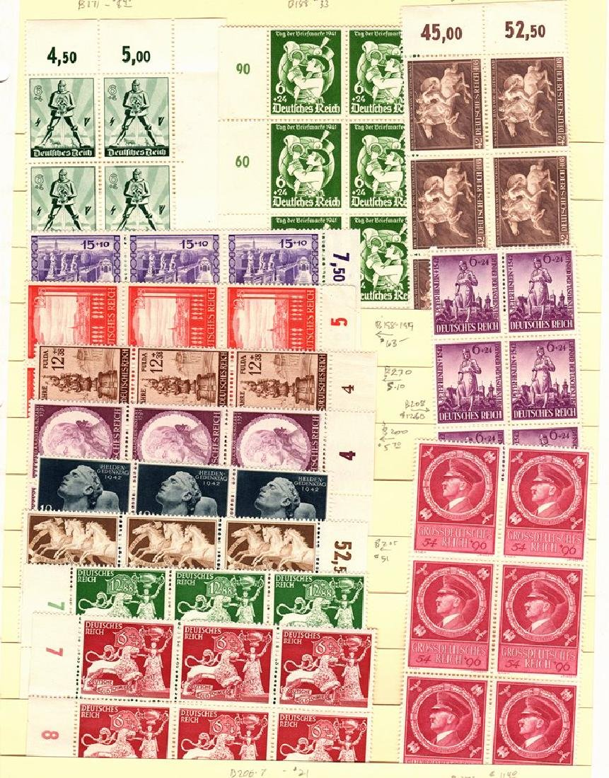 Germany - Third Reich Back of the Book MNH