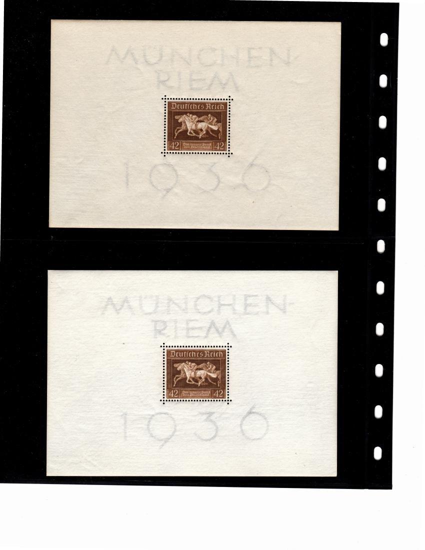 (21) Germany Scott B90 VF OG NH Sheets of 1 SCV.$525