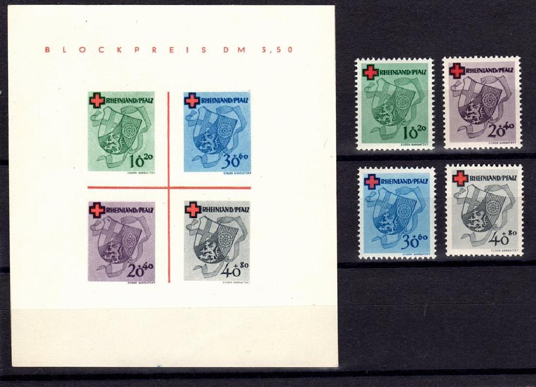 Germany Rhine Palatinate 6NB3-6NB6a VF OG NH SCV.$147+
