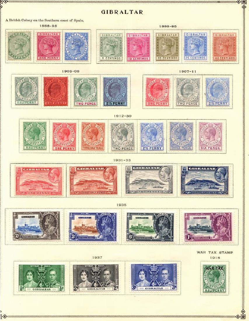 Gibraltar Unused Stamp Collection to 1938 SCV.$430+