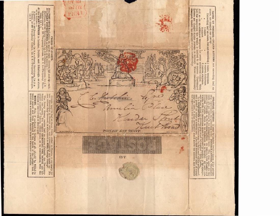 Great Britain Scott U3 Used Letter Sheet VF SCV.$500