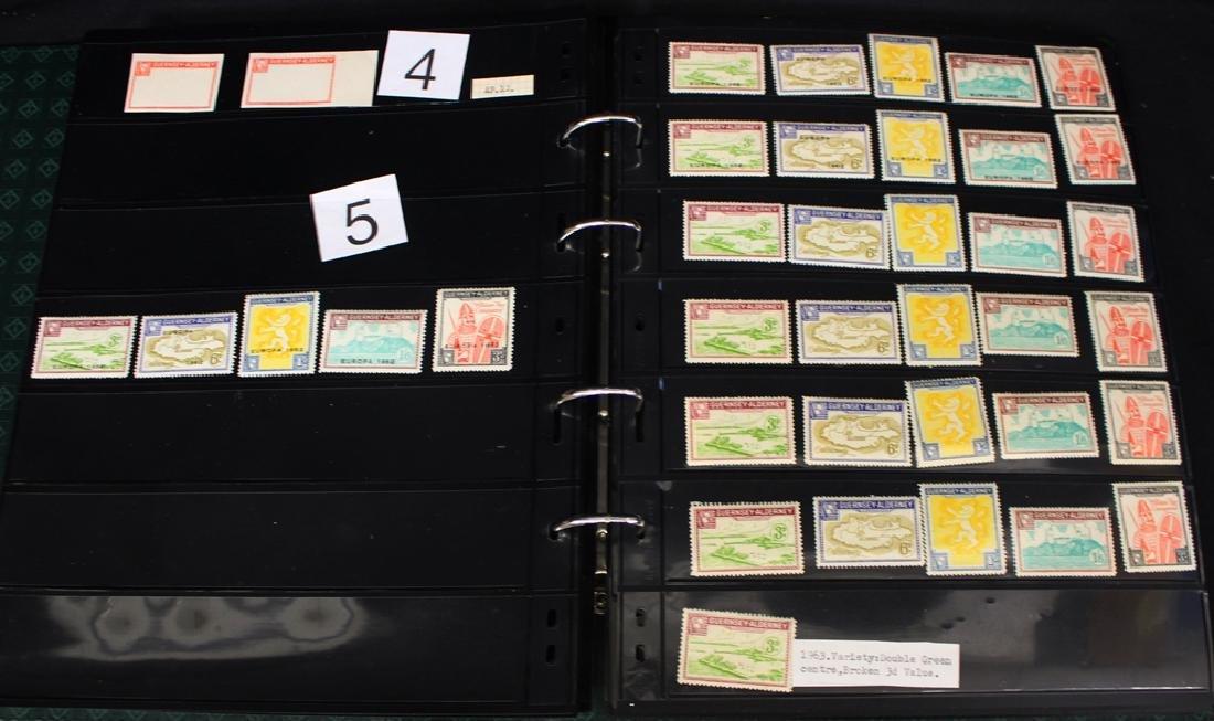 Guernsy & Alderney Non-Scott Listed Extensive Stamp