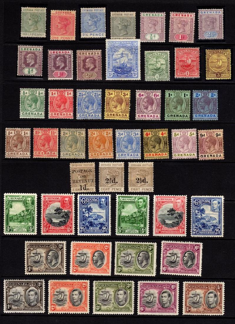 Grenada Unused Stamps Collection to 1938 SCV.$340+