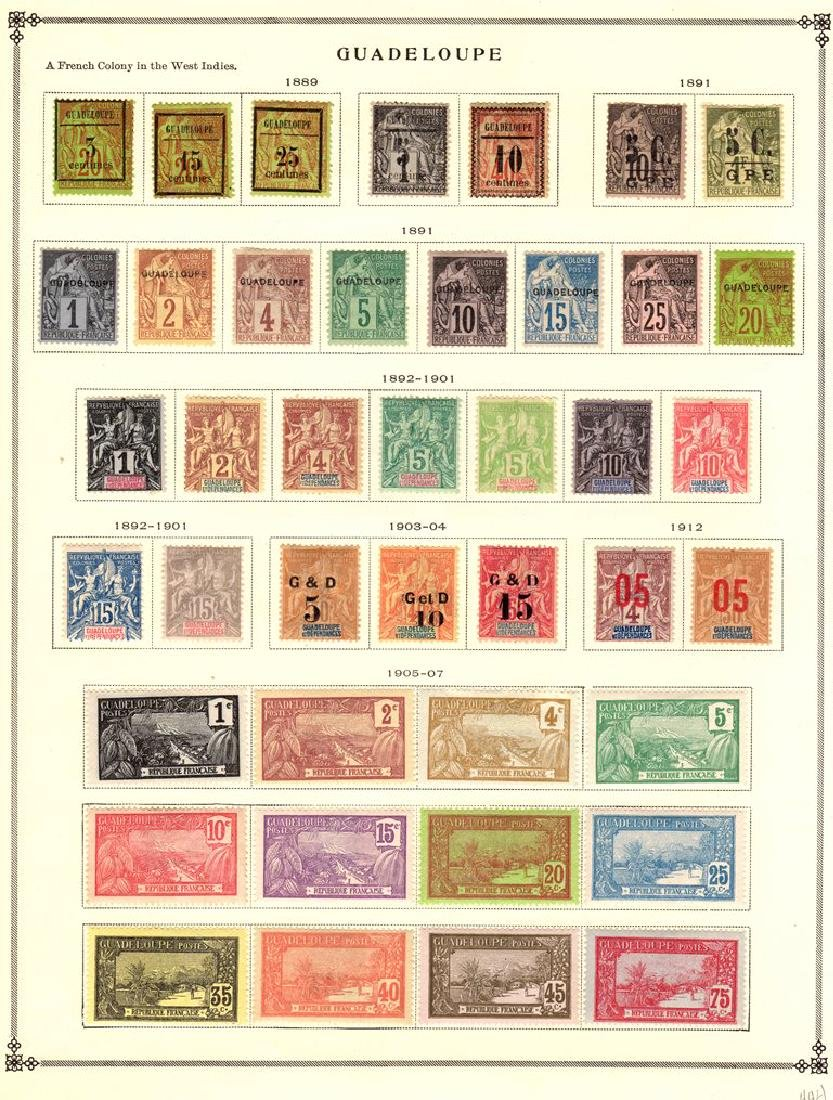 Guadeloupe Unused Stamp Collection to 1940 SCV.$600+