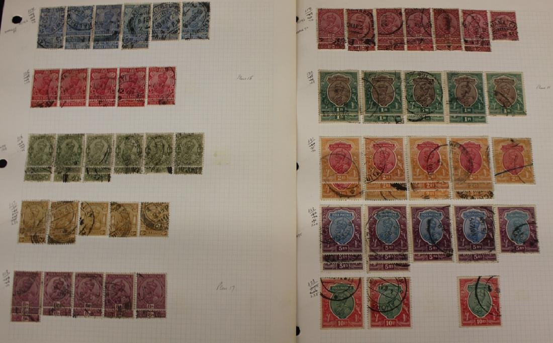 Extensive Used India Stamp Collection