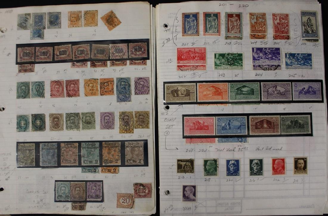 Italy Unused Used Stamp Collection to 1977