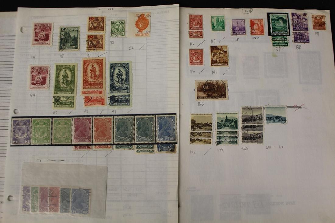 Liechtenstein Unused Used Stamp Collection