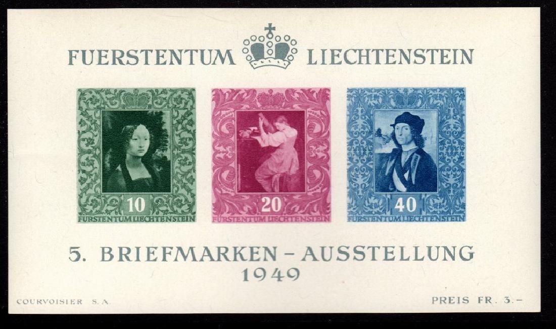 Liechtenstein Scott 238 VF OG NH S/S SCV.$110