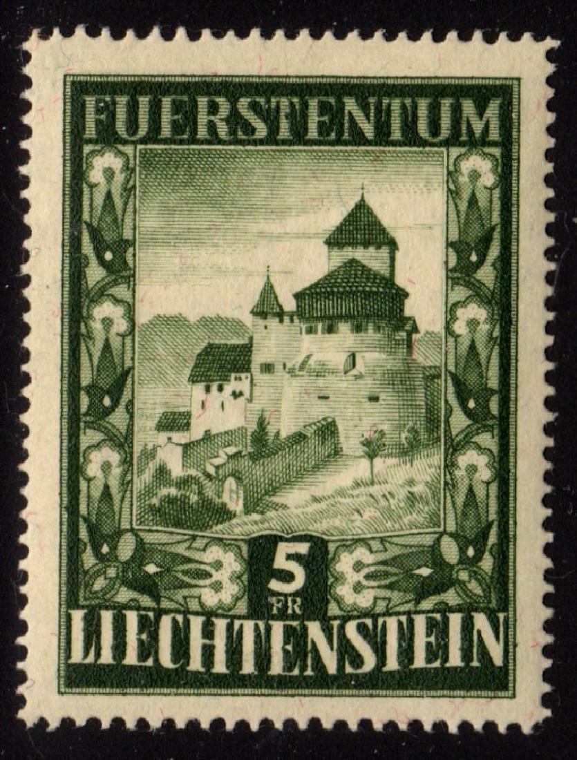 Liechtenstein Scott 264 VF OG NH Vaduz Castle SCV.$140