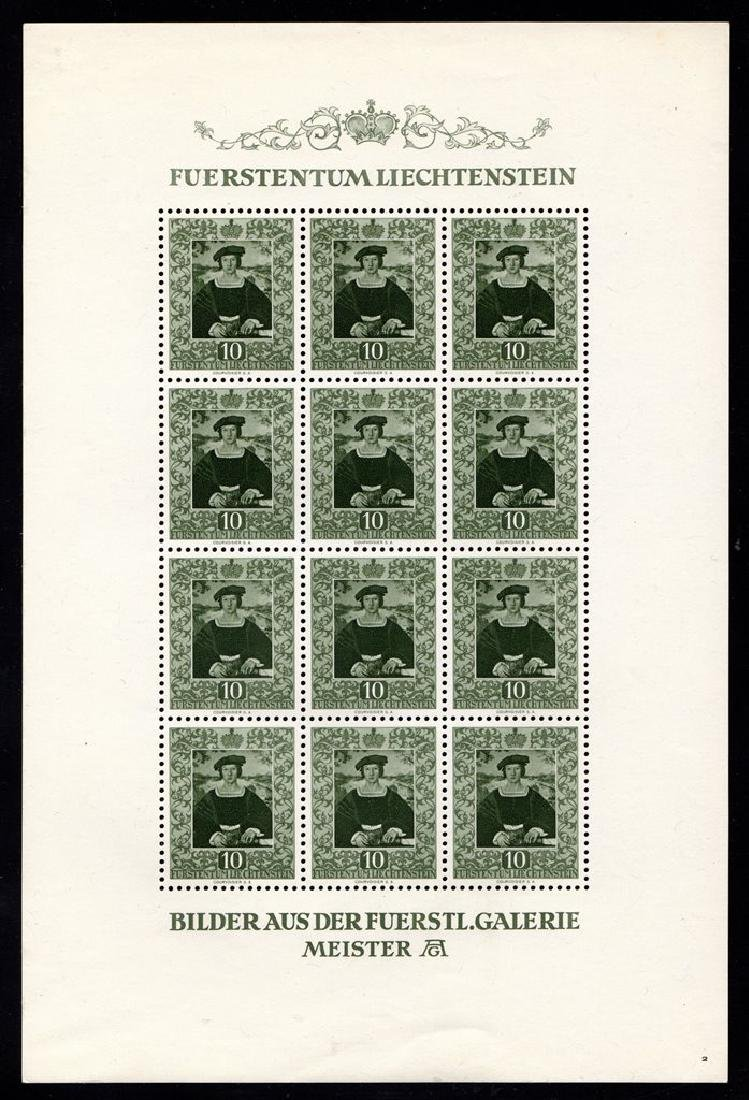 Liechtenstein Scott 266-269 VF OG NH Sheets of 12