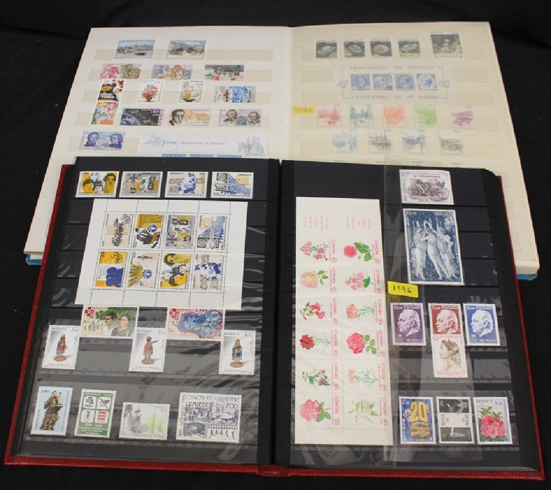 Monaco Unused MNH Stamp Collection 1983-2000 plus FDC's