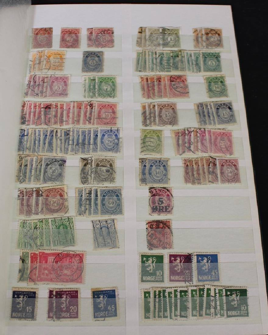 Norway - Stockbook of Used Unused Stamps