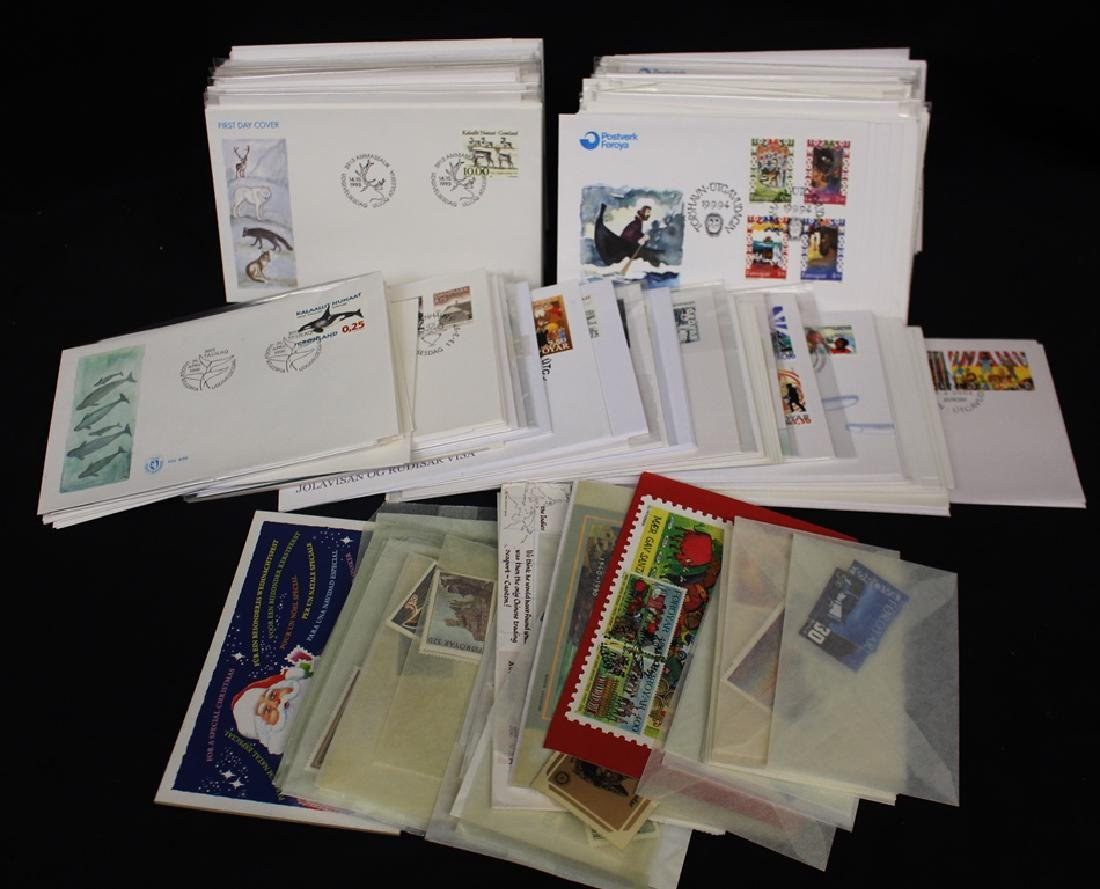 Denmark Faroe Is. and Greenland FDC's and Stamps