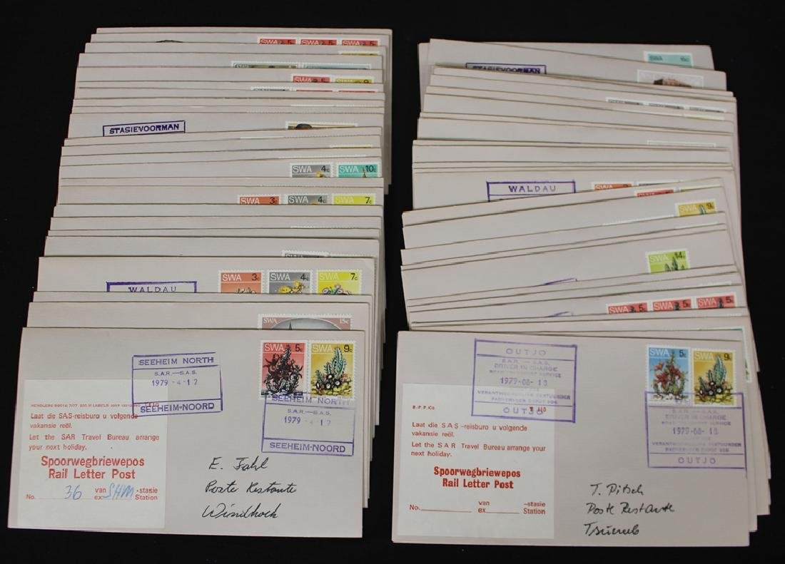 South West Africa (Namibia) Rail Letter Post Cover Lot