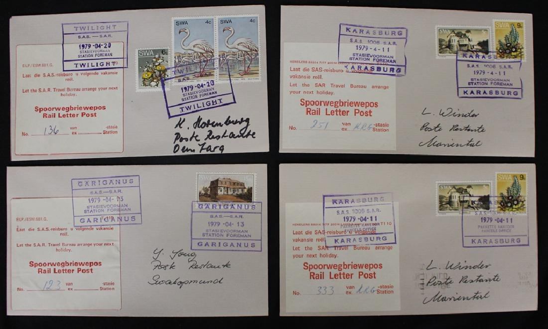 South West Africa (Namibia) Rail Letter Post Cover Lot - 3