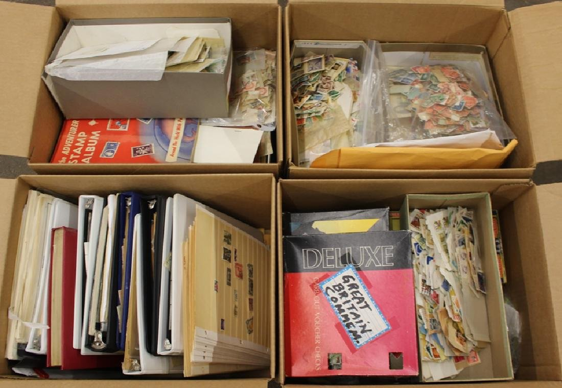 Worldwide Stamp Collection Accumulation