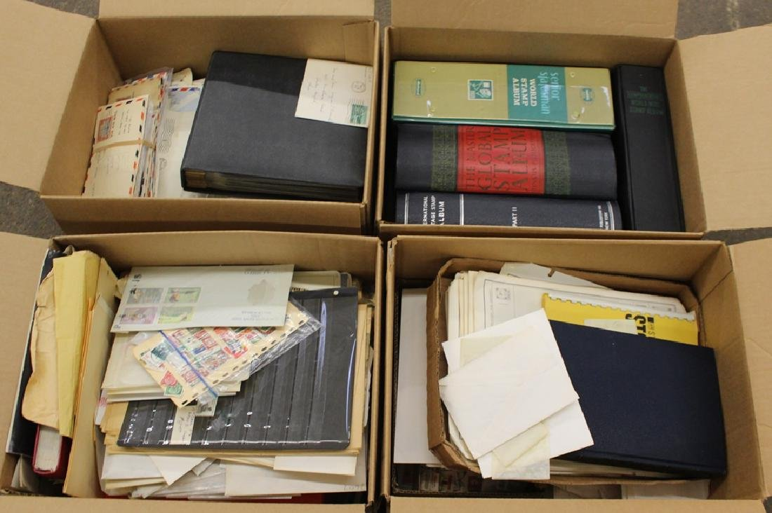Worldwide Stamp and Cover Collection Accumulation