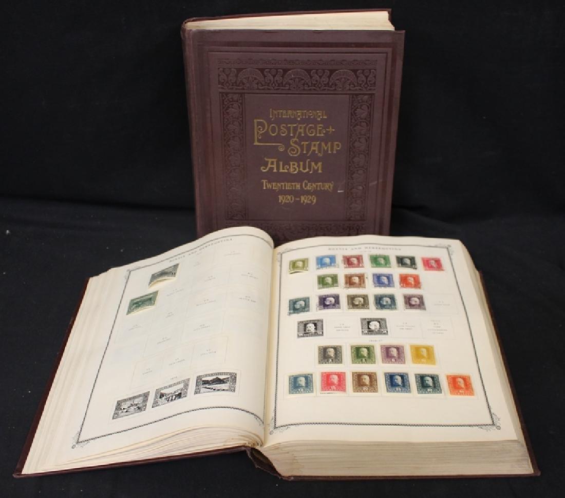(2) Volume Scott International Stamp Collection