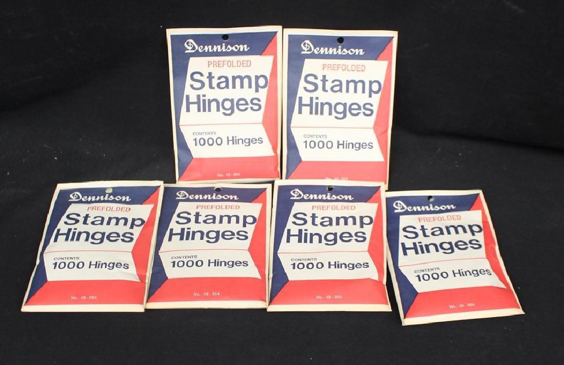 (6) Packs Dennison Pre-Folded Stamp Hinges