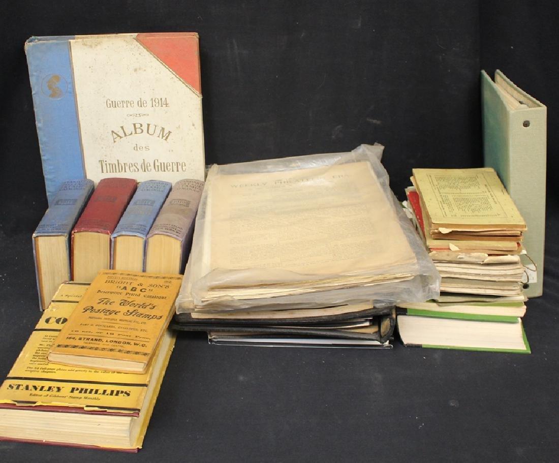 Philatelic Literature and Supply Box Lot