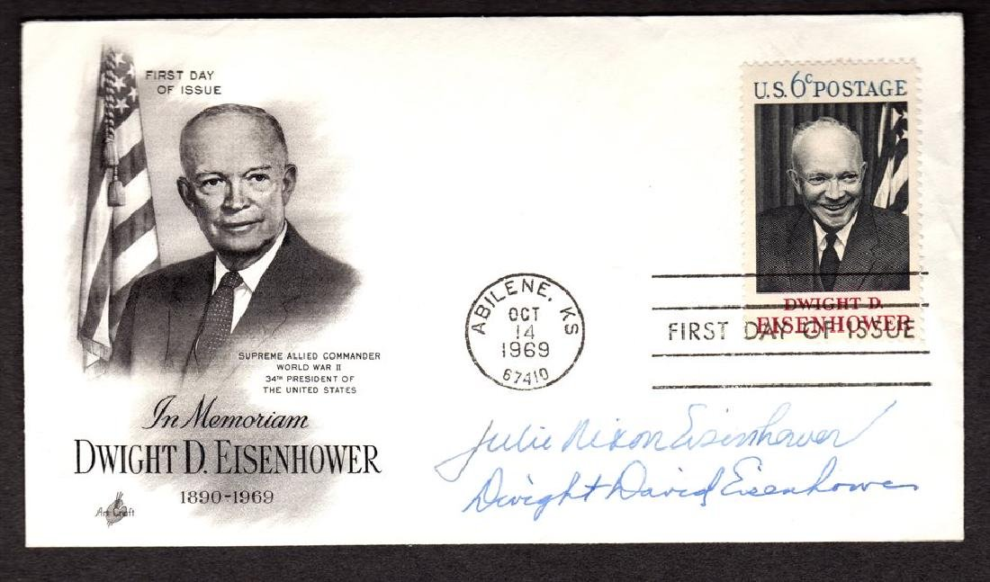 Dwight David Eisenhower & Julie Nixon Eisenhower Signed