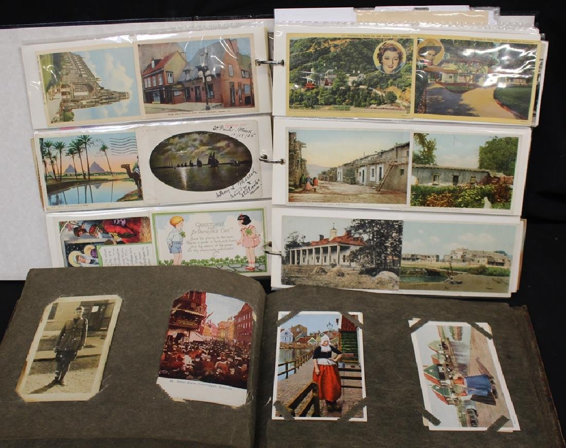 Postcard Collection in pages and an old album