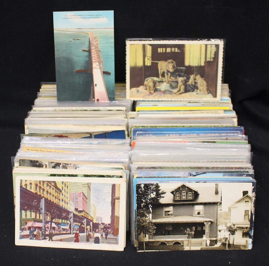 (800-1000) U.S. Postcards - Mixed States Towns Views