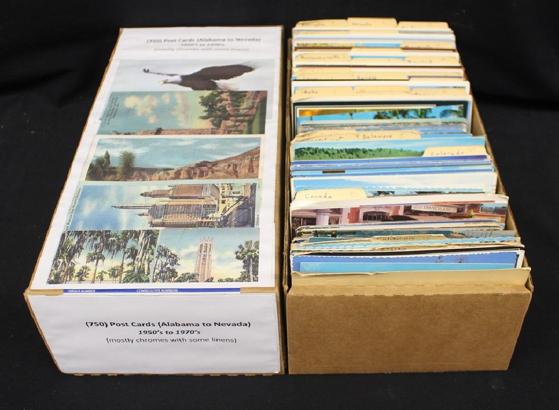 (700-800) Postcards Alabama to Nevada
