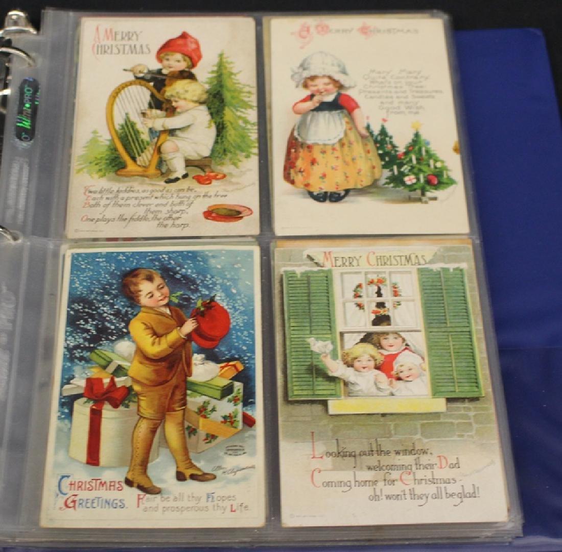 Clapsaddle - (63) Greetings plus one Brundage Santas - 3