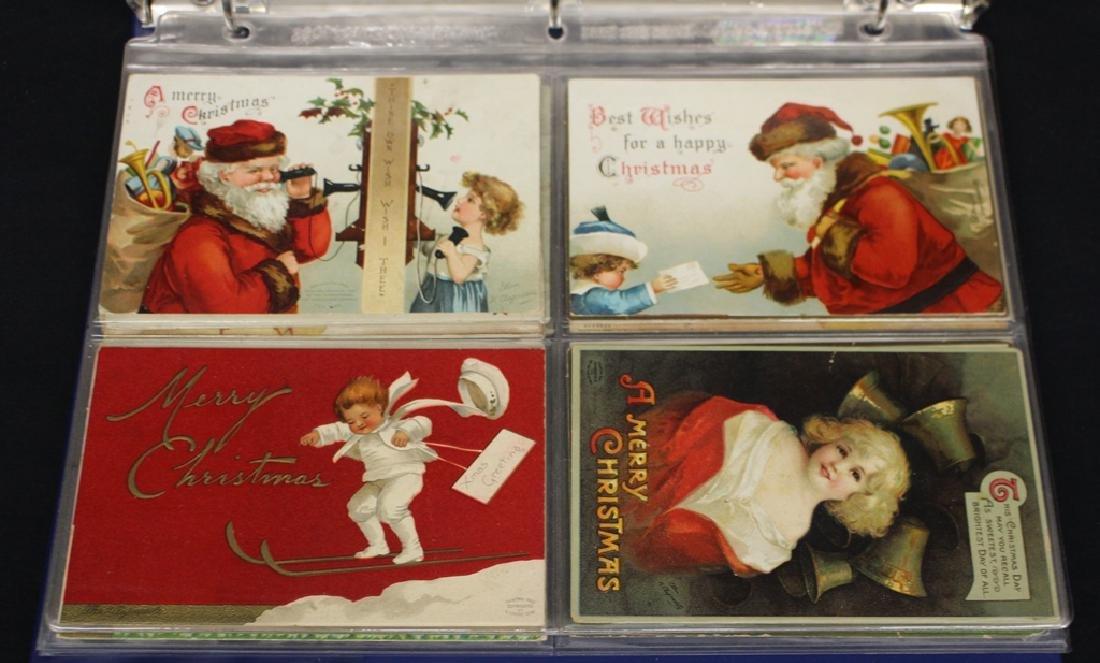 Clapsaddle - (63) Greetings plus one Brundage Santas - 5