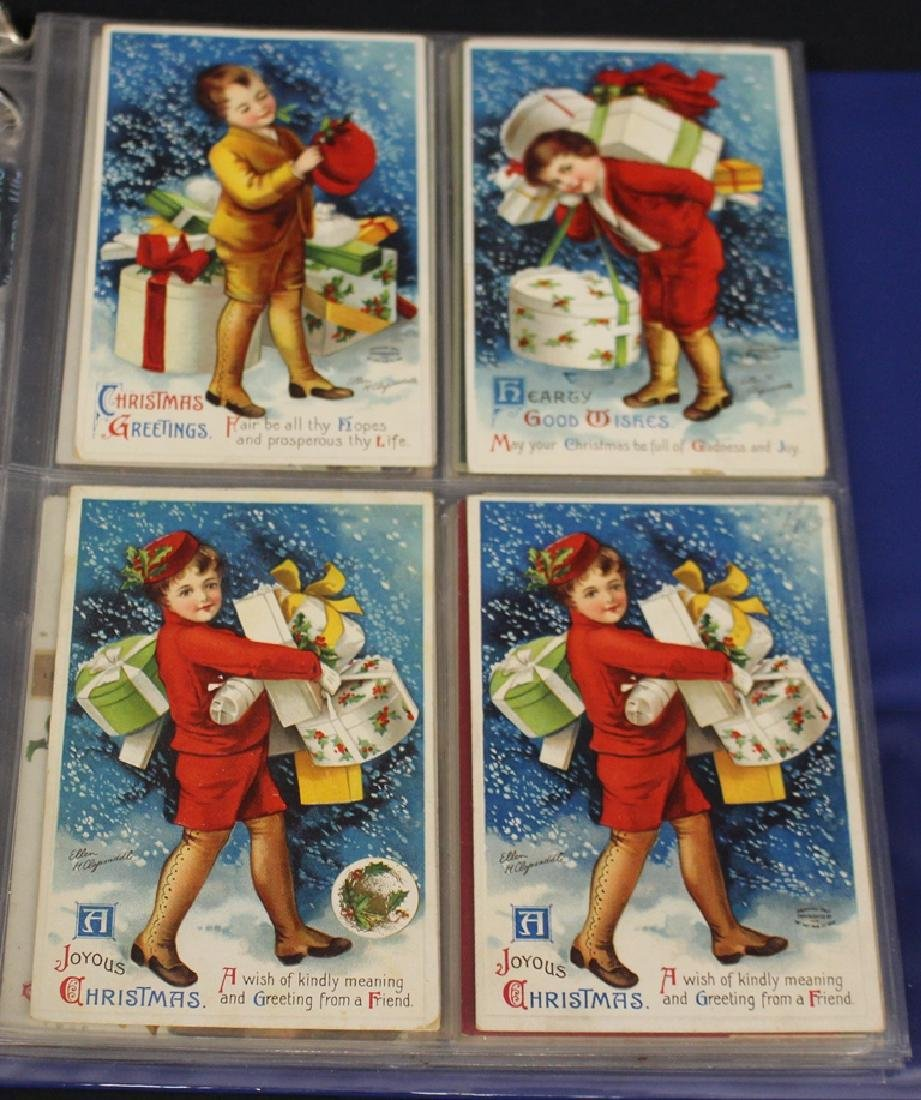 Clapsaddle - (63) Greetings plus one Brundage Santas - 6