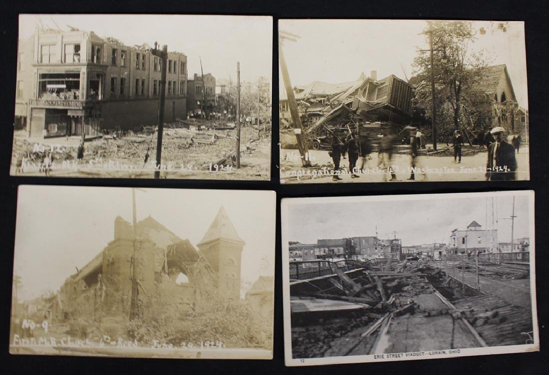 1924 Lorain Ohio Tornado Disaster Postcards (11)