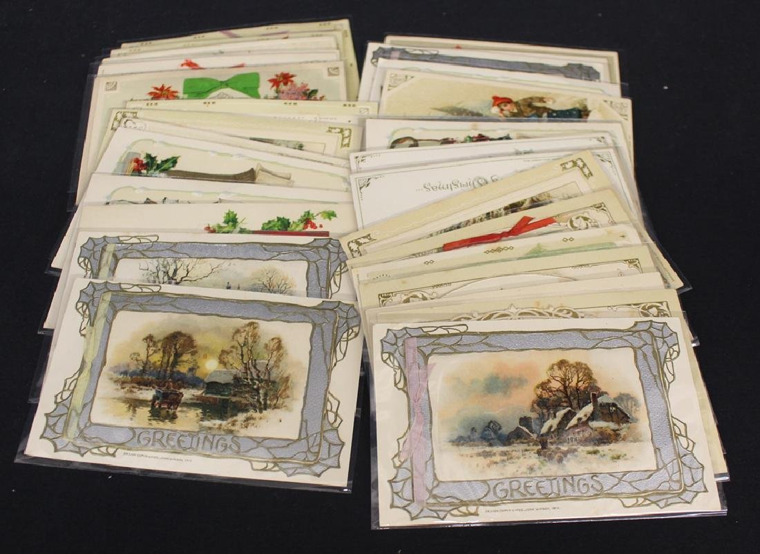 (33) Winsch Christmas Postcards with Embossed and