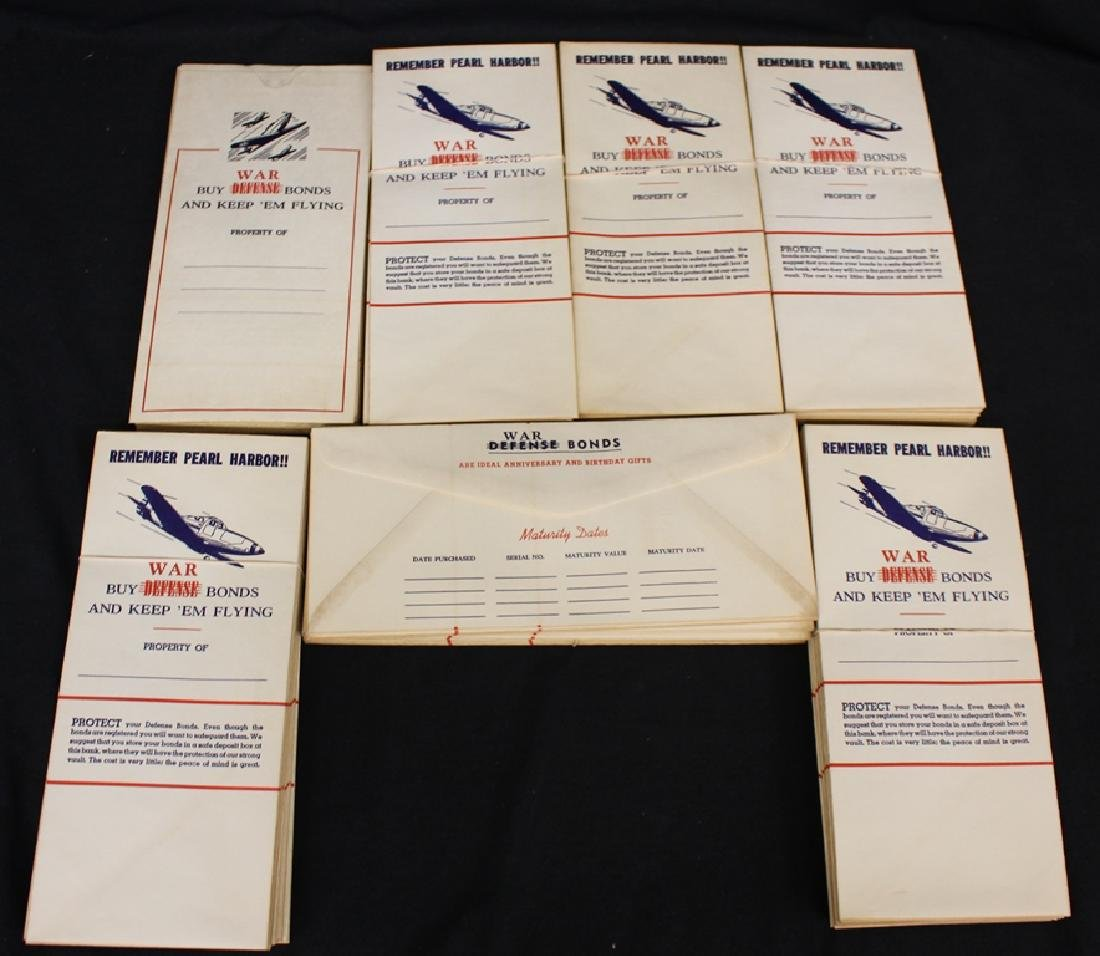 Remember Pearl Harbor War Bond Envelopes (100)+
