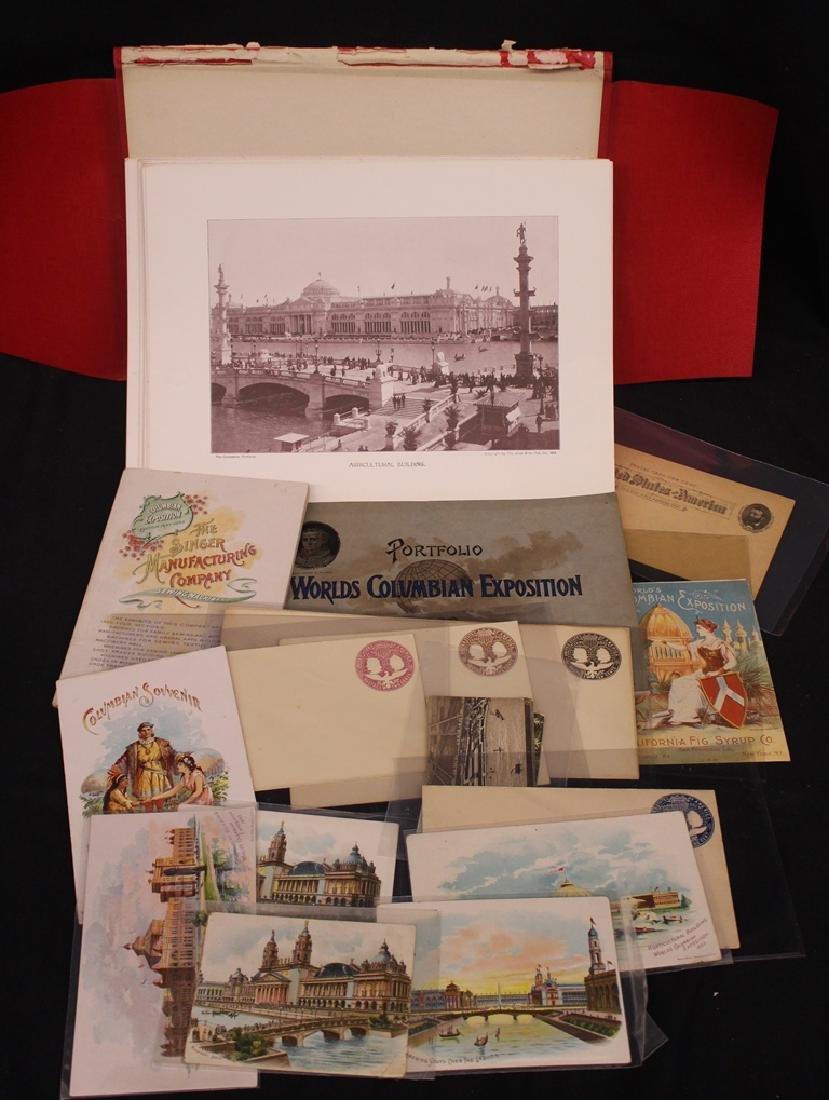 1893 Columbian World's Fair Ephemera