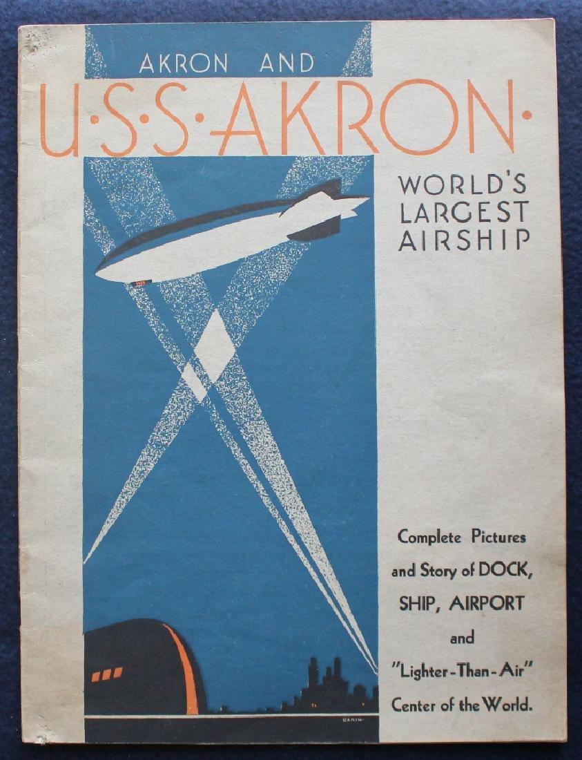 1931 U.S.S. Akron World's Largest Air Brochure