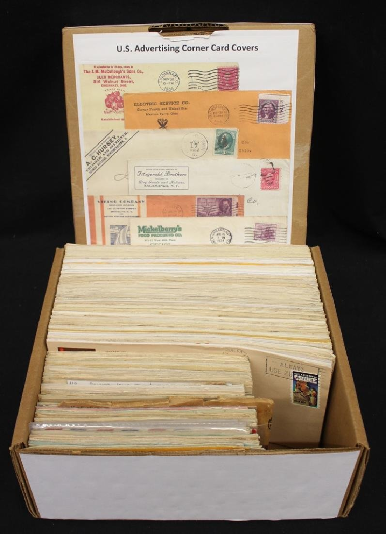 (350)+ U.S. Advertising Corner Card Covers 1900-1960
