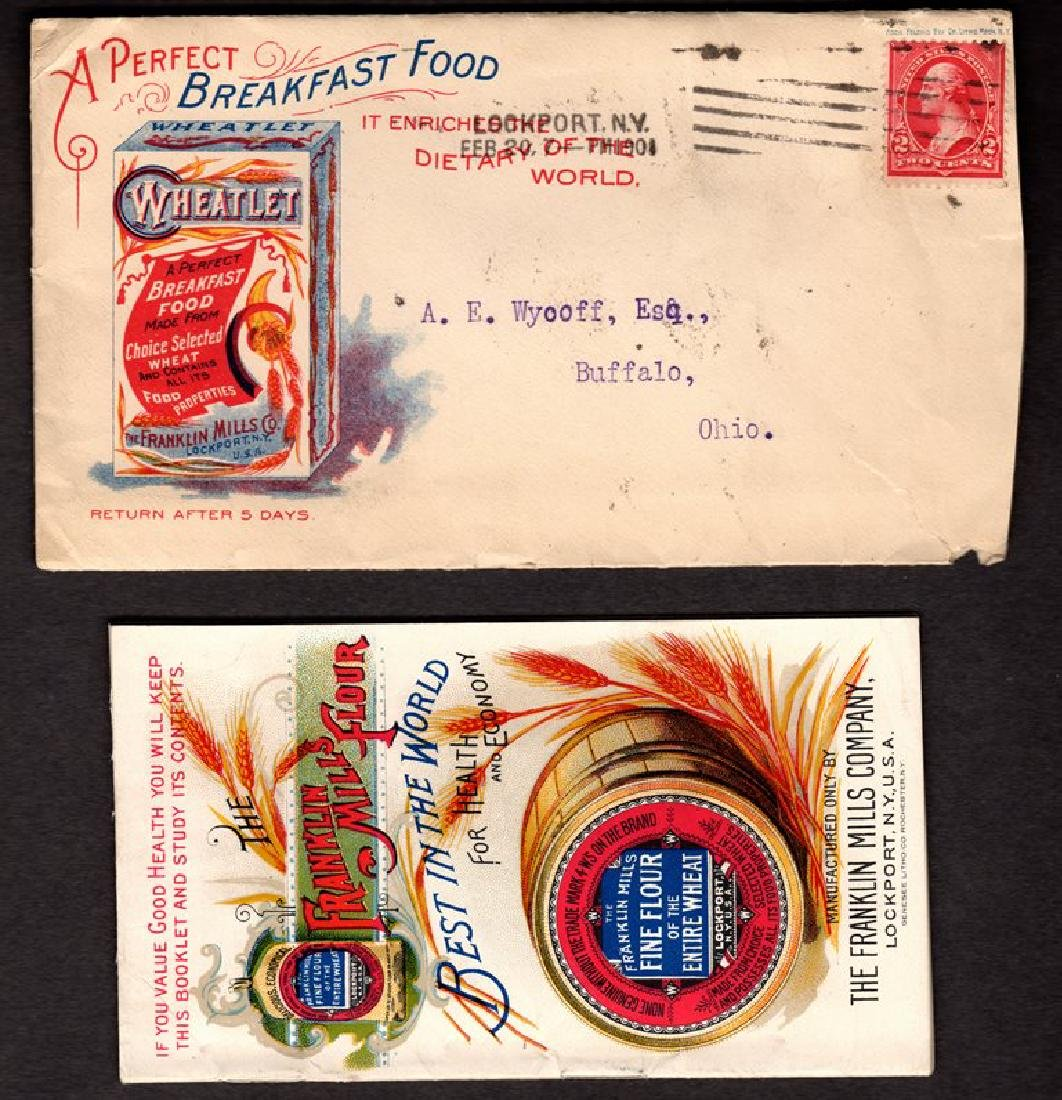Franklin Mills Wheatlet Cereal 1901 Advertising Cover