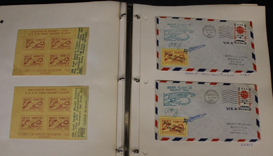 (50) U.S. and Worldwide Rocket Mail Stamps & Covers