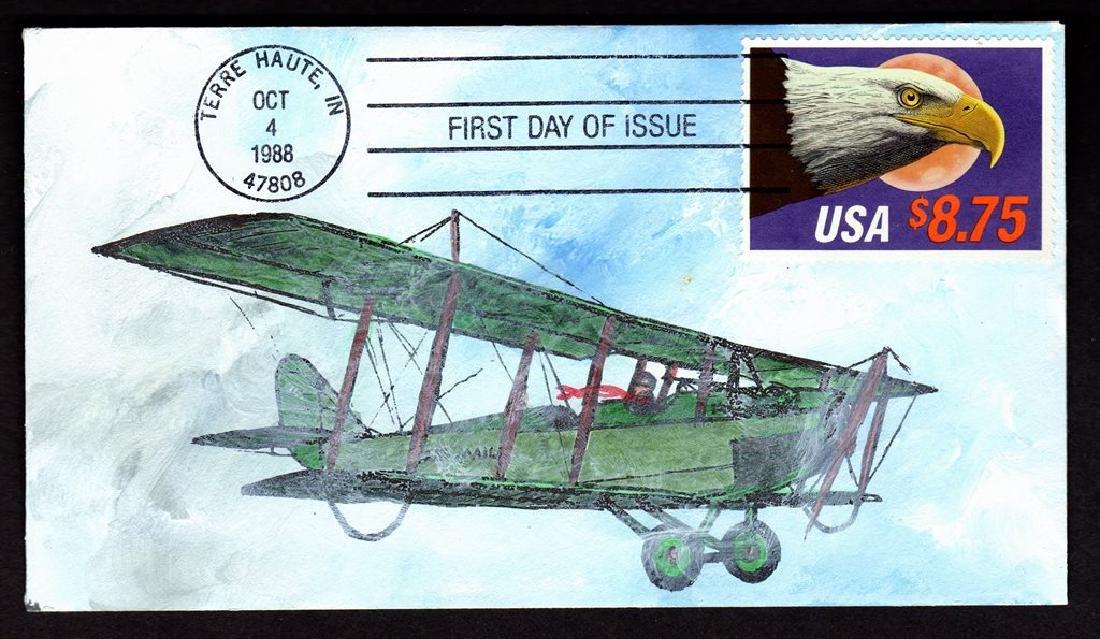 DeRossett - Scott 2394 Express Mail Handpainted First