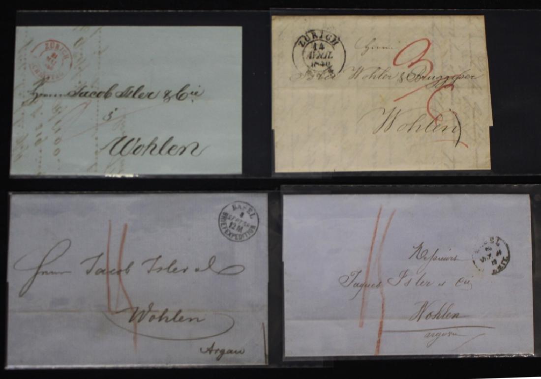 Switzerland - (15) 1830-1850's Stampless FLS Lot