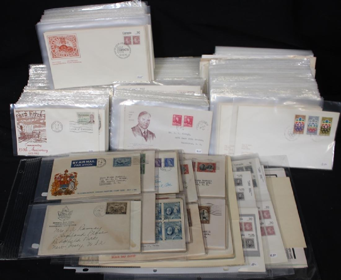 Canada First Day Cover Lot Plus