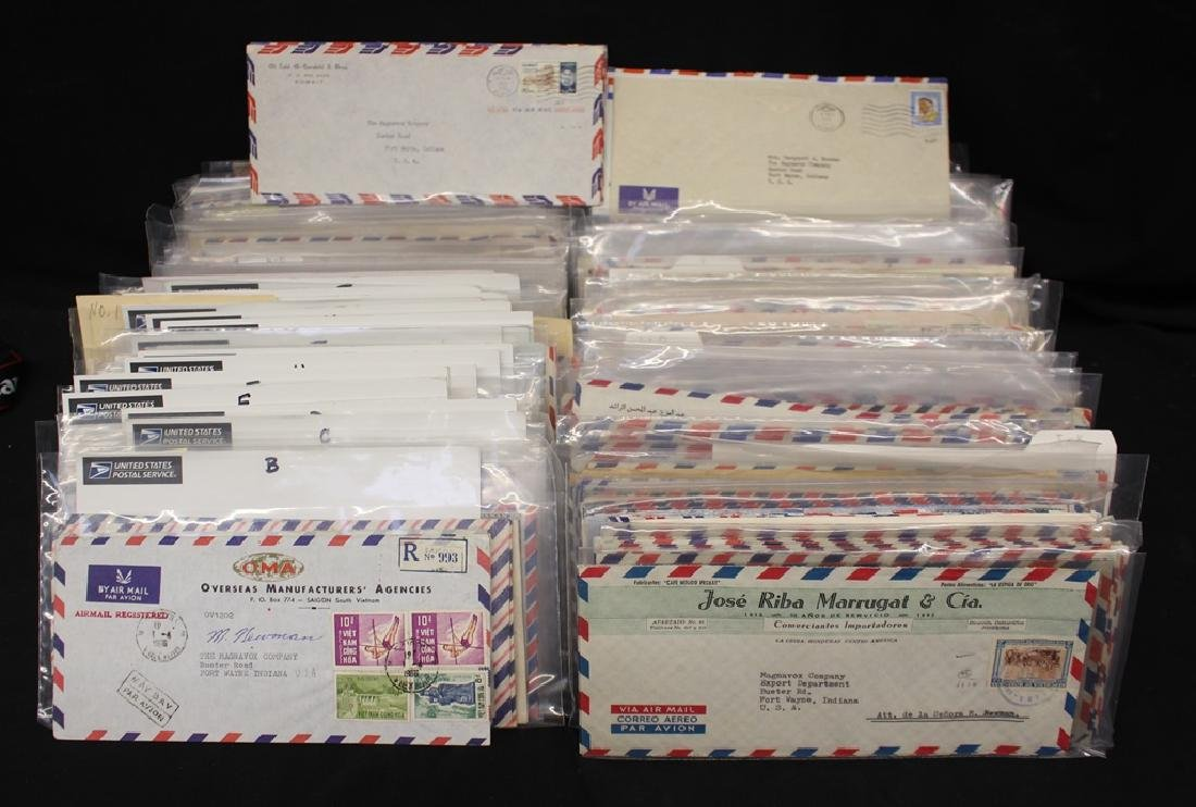 Worldwide Covers to the United States on #10 Envelopes