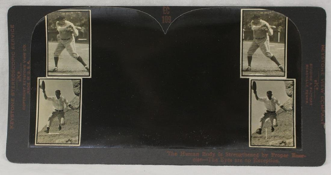 Vintage Optometry Stereoview Card - Babe Ruth Yankees &