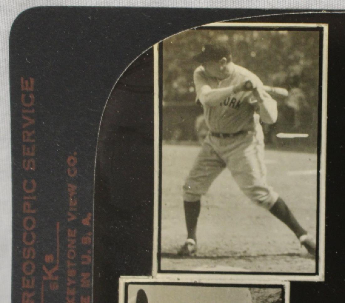 Vintage Optometry Stereoview Card - Babe Ruth Yankees & - 2