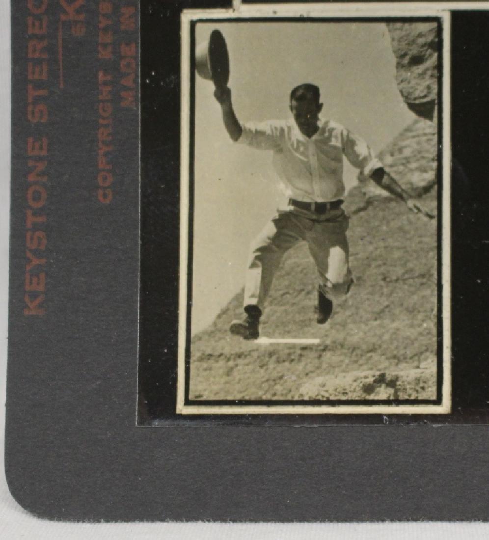Vintage Optometry Stereoview Card - Babe Ruth Yankees & - 3