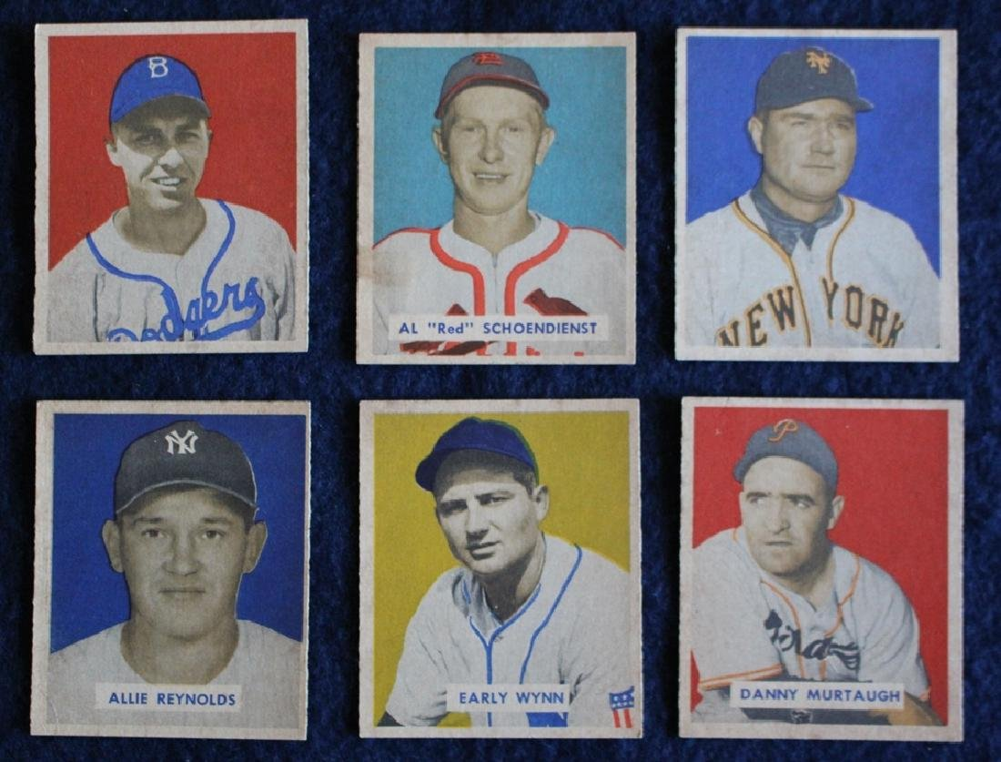 (56) Different 1949 Bowman Baseball Cards with Stars