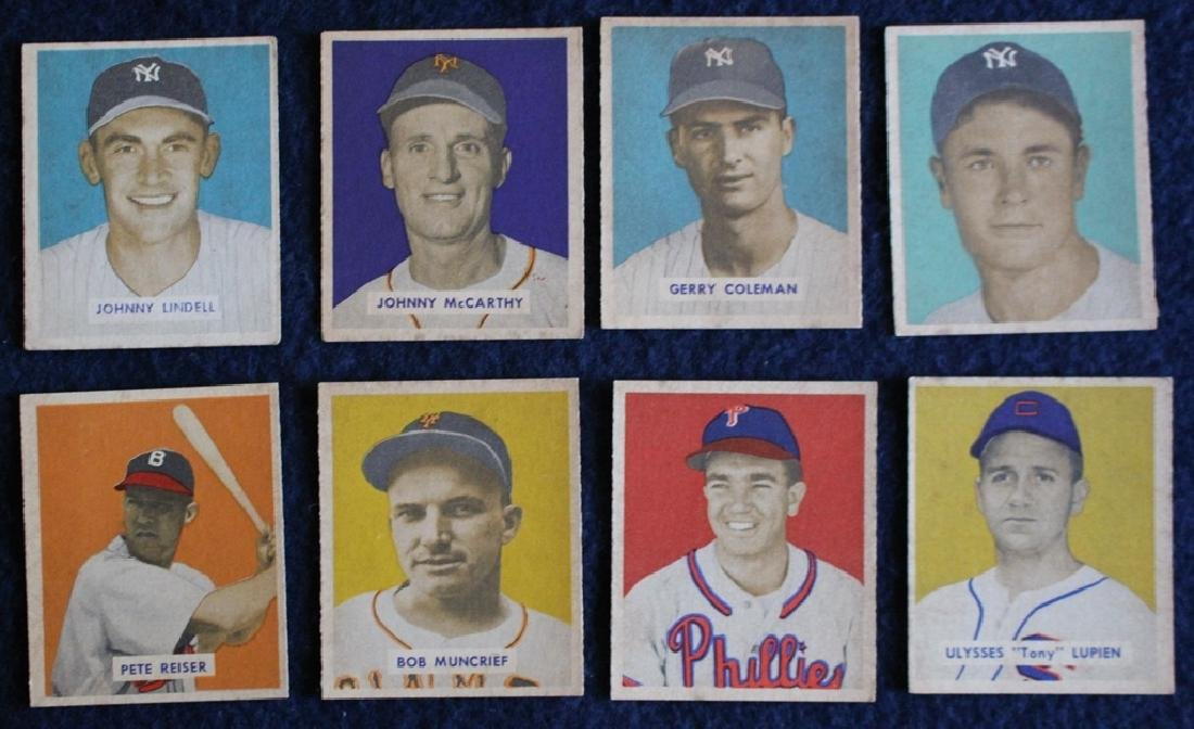 (56) Different 1949 Bowman Baseball Cards with Stars - 2