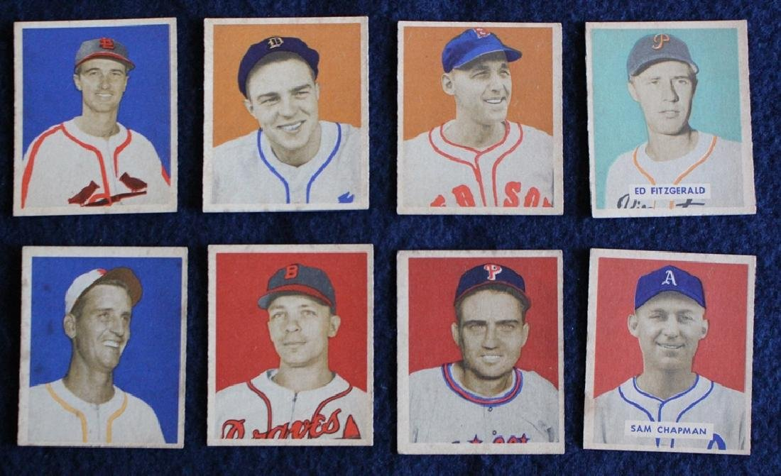 (56) Different 1949 Bowman Baseball Cards with Stars - 3