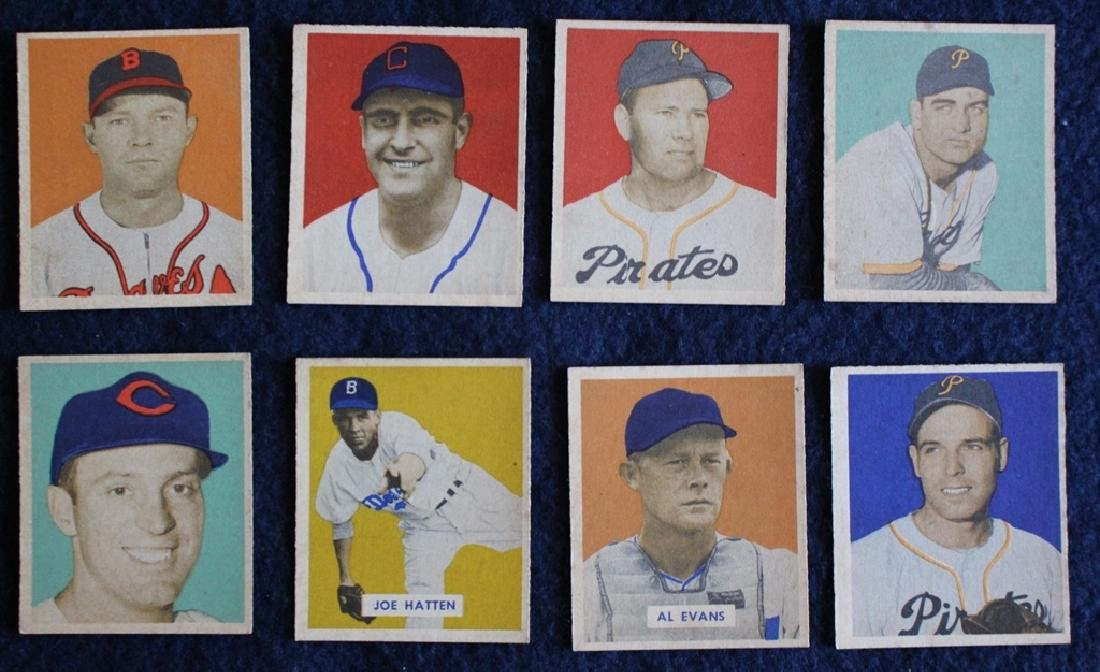 (56) Different 1949 Bowman Baseball Cards with Stars - 4